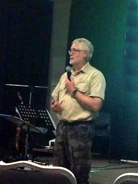 Tim presenting