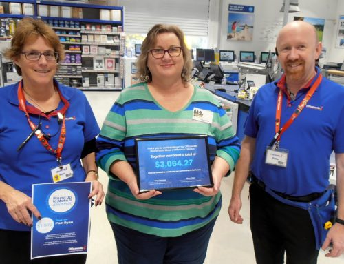 Round Up to Make a Difference with Officeworks Nowra