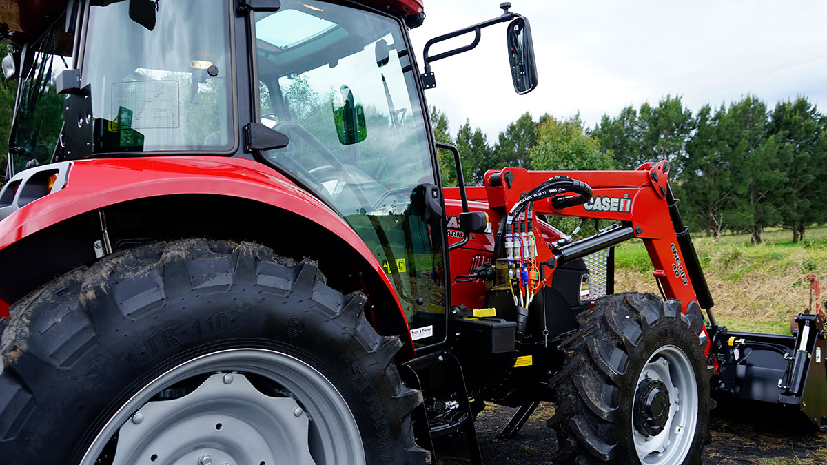 The new Case tractor from another angle