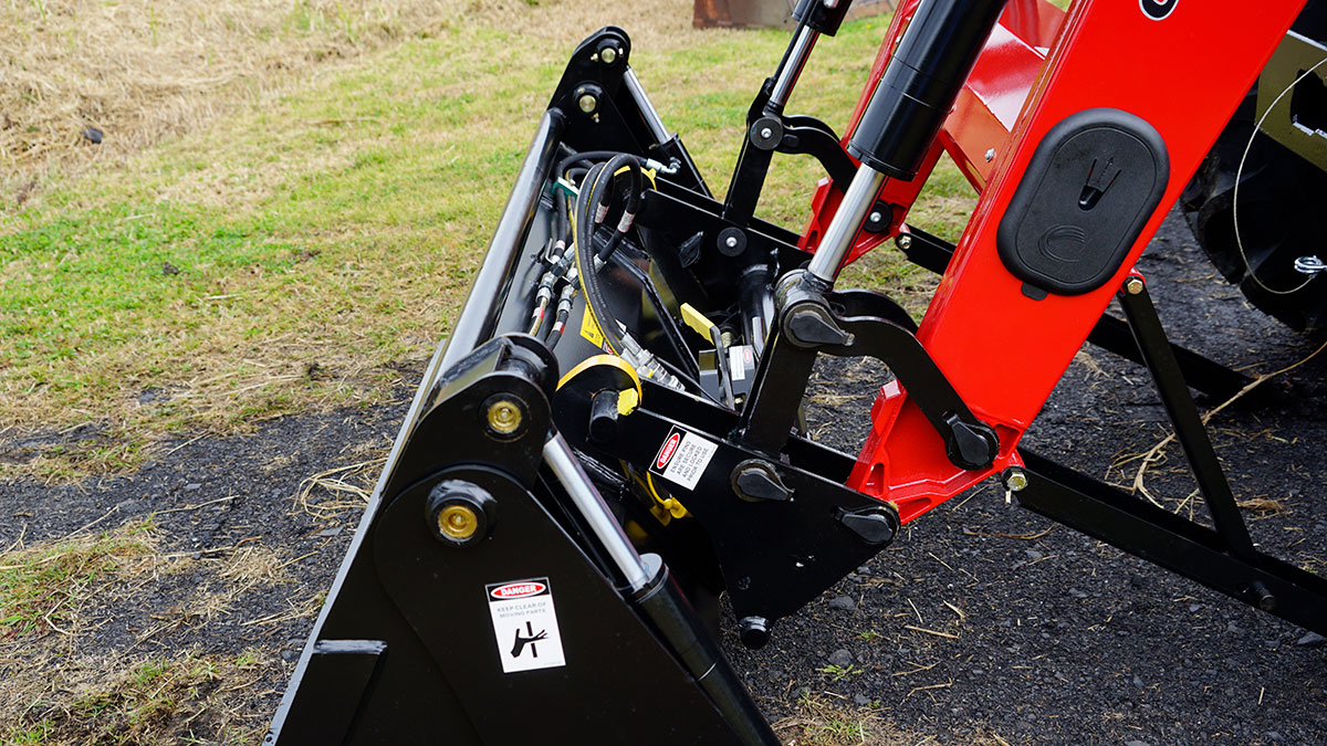 The new attachments for the Case tractor will make improving the pasture much easier